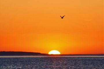sunset view colours love romantic