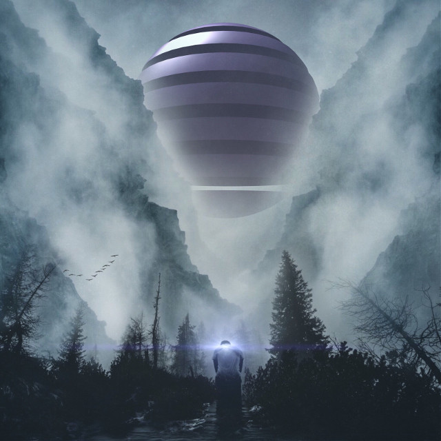 Good Morning Everyone😊😊 OP by @freetoedit & unsplash #edited #photoblending #surreal #purple #unsplash #nature #people #forest #fog #editstepbystep