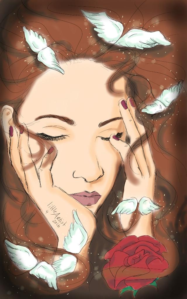 I wanna fly away  #digitalart #pencilsketch #emotions #artist #sketchbookpro #girl  #wings