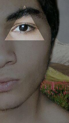 selfie lightmask triangles nature freetoedit
