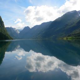 nature paysage norway lac lake