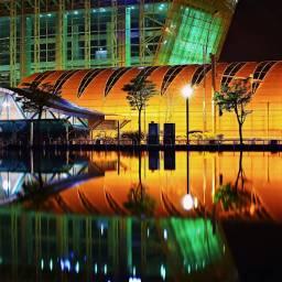 songdostation incheon southkorea stractural city reflection