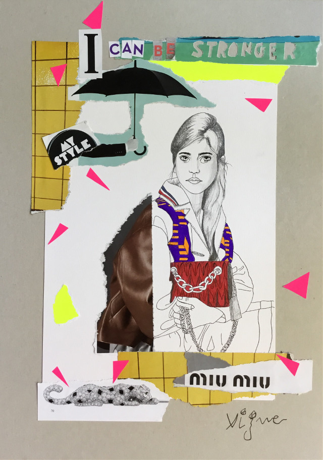 """""""I can be stronger"""" collage by Rocio Vigne"""